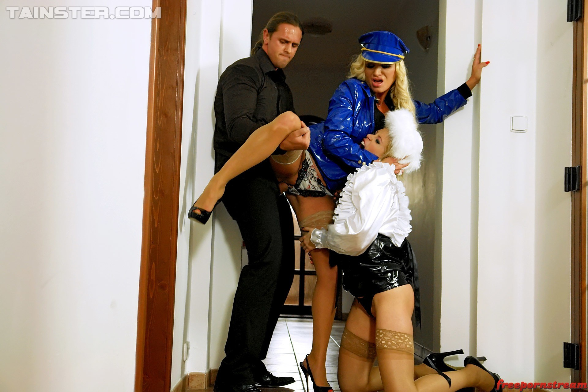 Fullyclothedsex.com – Roughing Up Fashion Fetishists Sharon Pink & Sweet  Cat 2013 Non-Nude